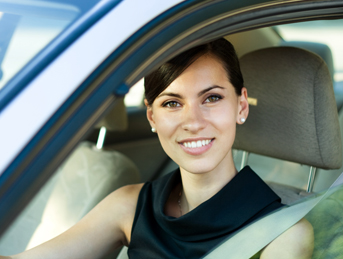 Woman in Her Car - Car Locksmith